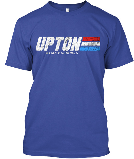 Upton: A Family Of Heroes Deep Royal T-Shirt Front