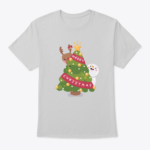 Christmas Is Comin' Light Steel T-Shirt Front