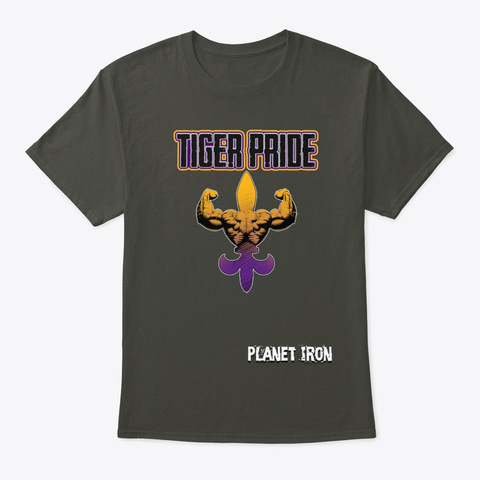 Tiger Pride Smoke Gray T-Shirt Front
