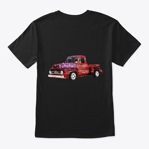 Some Call Me Veteran Grandpa Old Truck Black T-Shirt Back