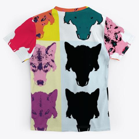 Wolf Head | Warholesque Pop Art | 90's Standard T-Shirt Back