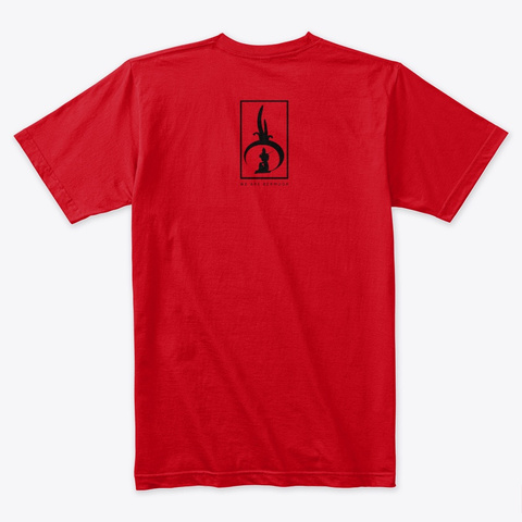 Mermaids Live Here Red T-Shirt Back