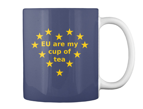 Eu Are My Cup Of Tea Dark Navy Mug Back