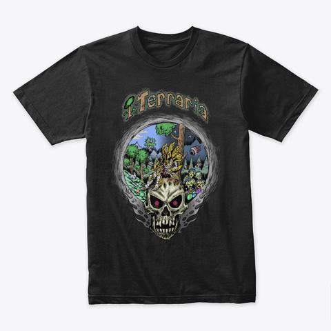 Terraria Time – Terraria Merchandise Black T-Shirt Front