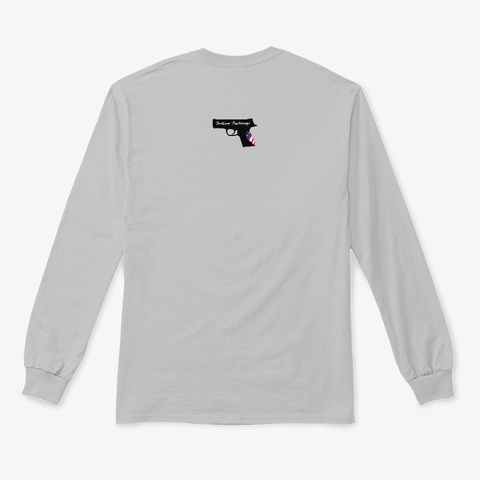 Bling It And Bring It Sport Grey Long Sleeve T-Shirt Back