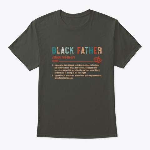 Black Father Definition Funny Gift Smoke Gray T-Shirt Front