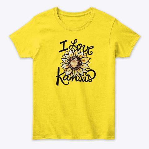 I Love Kansas Daisy T-Shirt Front