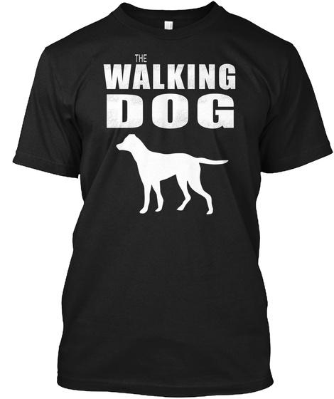 The Walking Dog Pointer T Shirt Black T-Shirt Front
