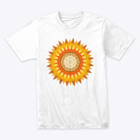 Transcending Vibrations Sun White T-Shirt Front