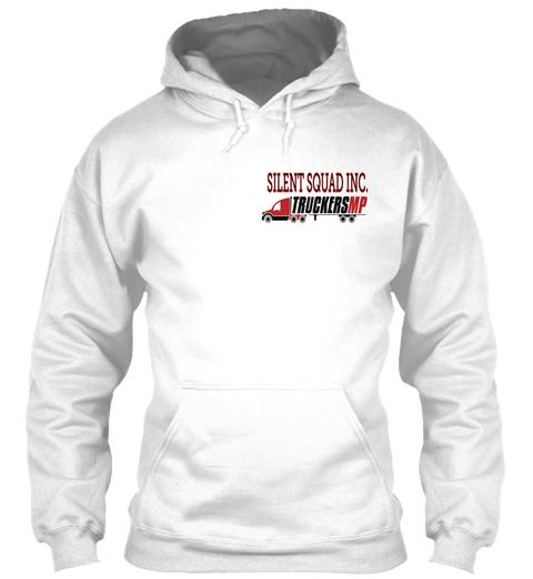 Silent Squad Inc Truckersmp White Sweatshirt Front