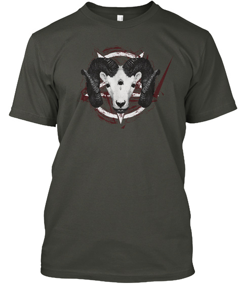 Three Eyed Goat  Baphomet Pentagram 2017 Smoke Gray T-Shirt Front