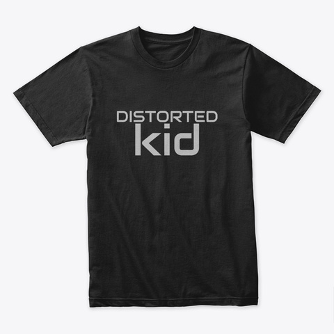 Distorted Kid Black T-Shirt Front
