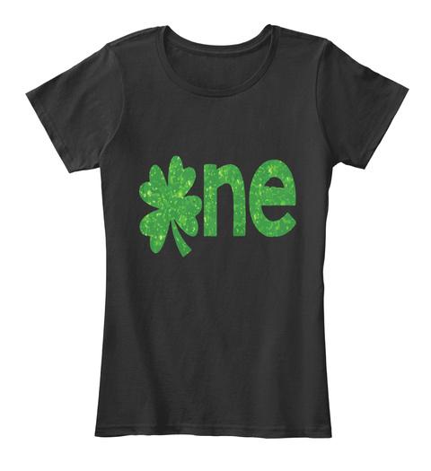 One Shamrock St Patrick T Shirt Black T-Shirt Front