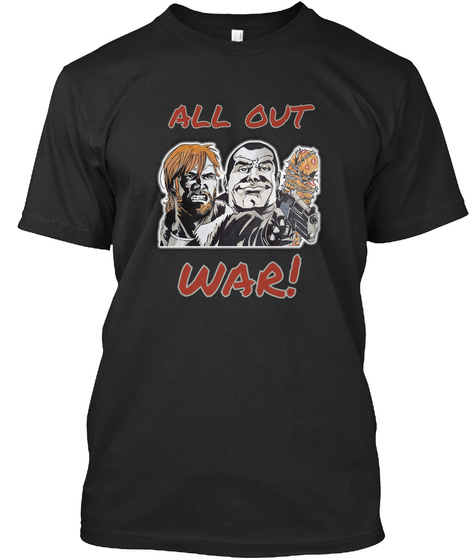 All Out War! Black T-Shirt Front