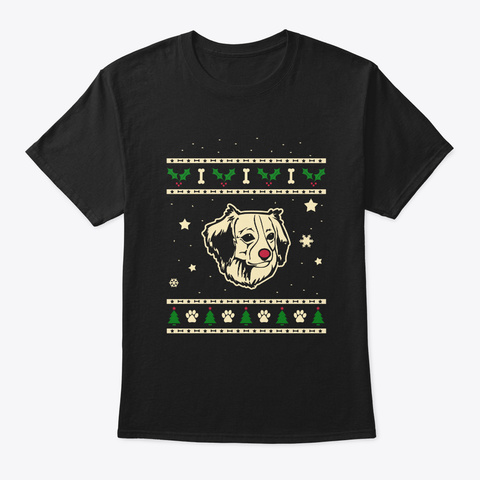 Christmas Kooikerhondje Gift Black T-Shirt Front