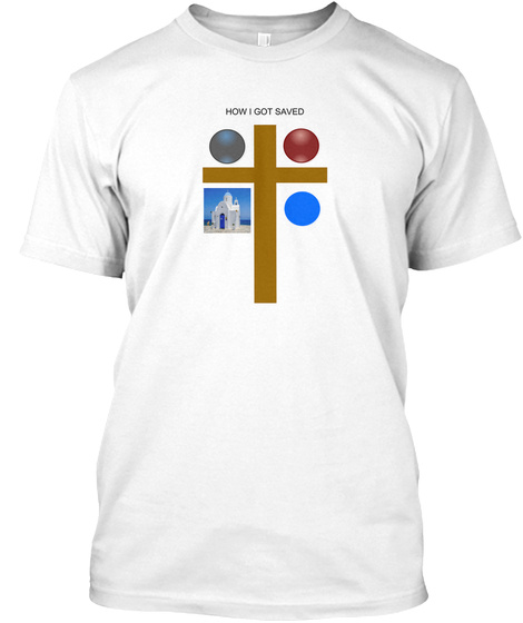 Tell Your Faith Story In 60 Secs Or Less White T-Shirt Front