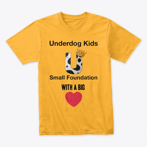 Underdog Kids Gold T-Shirt Front