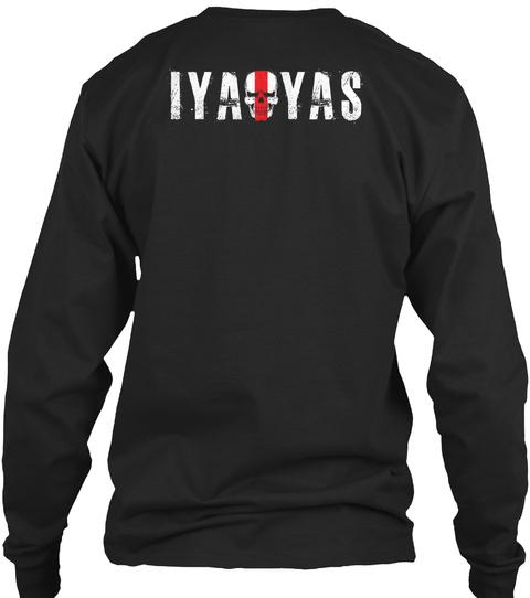 Iyaoyas Black T-Shirt Back