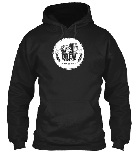 Brew Theology Est. 2016 Black T-Shirt Front