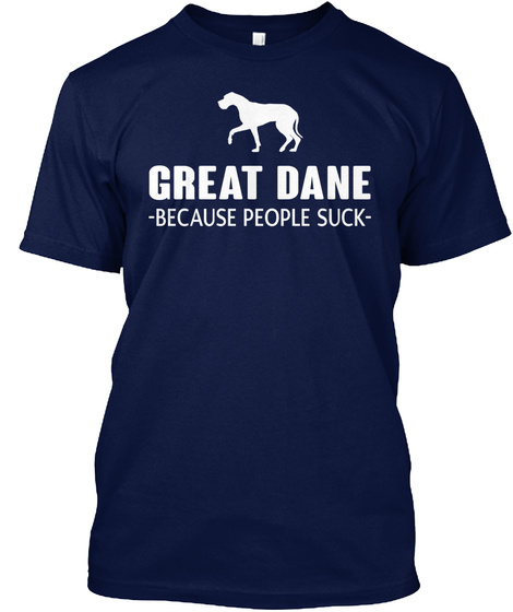 Great Dane Navy T-Shirt Front