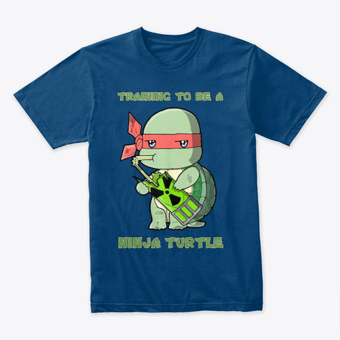 Radioactive Turtle Cool Blue T-Shirt Front