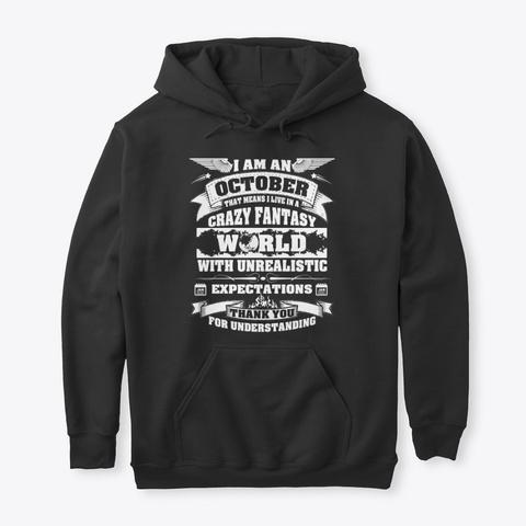 October Hoodie Gift Women Men King Queen Black T-Shirt Front