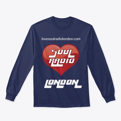 Love Soul Radio London Navy T-Shirt Front
