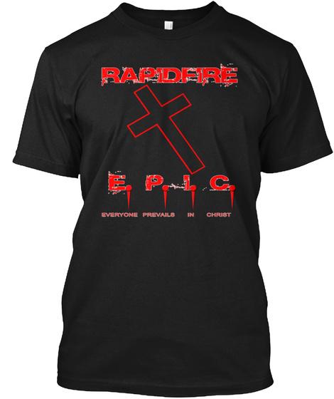 Rapidfire Black T-Shirt Front