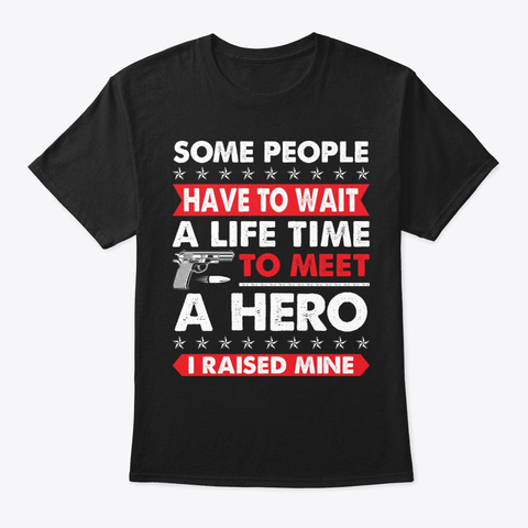 Some People Have To Wait  Police T Shirt Black T-Shirt Front