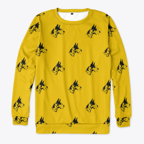 Yellow Great Dane Pattern Sweatshirt Standard T-Shirt Front