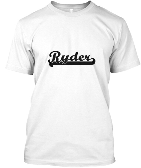 Ryder White T-Shirt Front