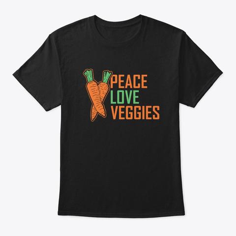 Vegan Vegetarian Black T-Shirt Front