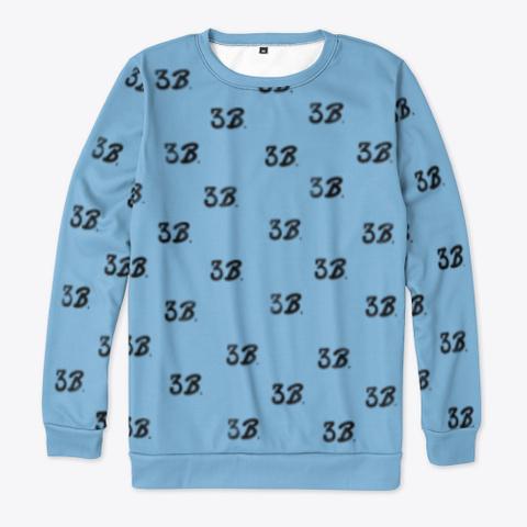 3 B All Over Print Sweatshirt Light Blue Camiseta Front