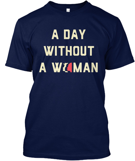 #Be Boldfor Change   Women's March Shirts Navy T-Shirt Front