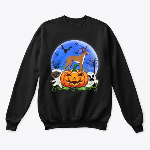 Greyhound Halloween Costume Shirts Black T-Shirt Front