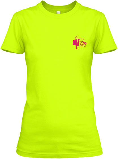 Awesome Postal Worker Shirt Safety Green T-Shirt Front