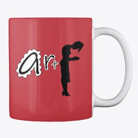 """F   Art"" Mug Bright Red T-Shirt Back"