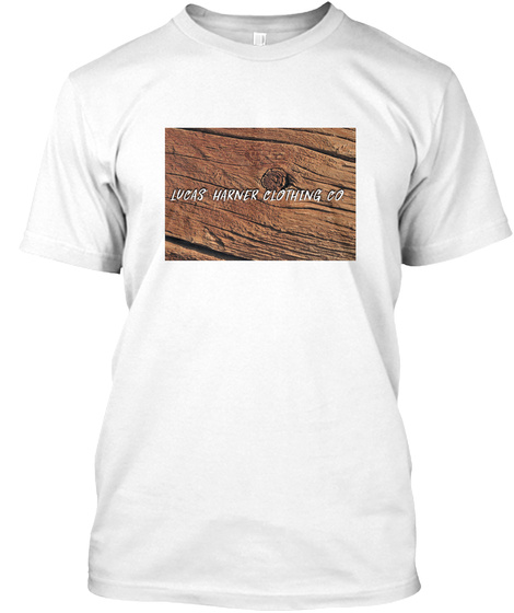 """""""Wood Collection"""" Lucas Harner Clothing Co. White T-Shirt Front"""