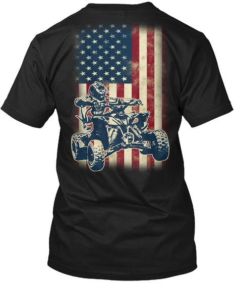Quad Flag Black T-Shirt Back