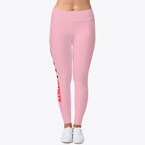 Ugue Woman's Leggings Pink T-Shirt Front