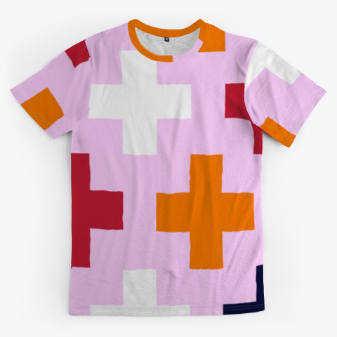 Cross On Pink Pattern Standard T-Shirt Front