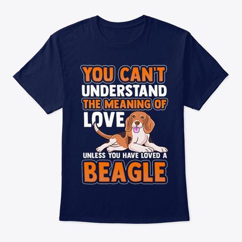 Dog Beagle Dog Pet Love Navy T-Shirt Front