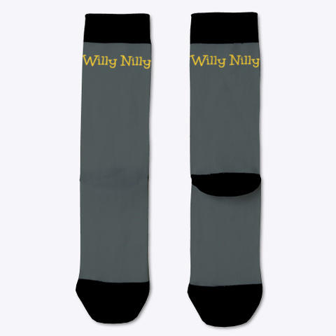 Willy Nilly Socks Dark Grey T-Shirt Front