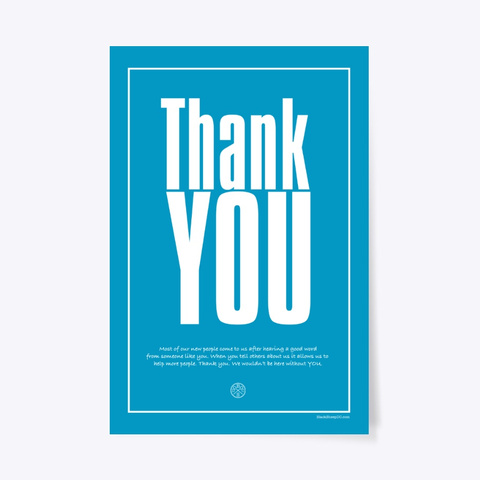Thank You For Your Referrals Standard T-Shirt Front