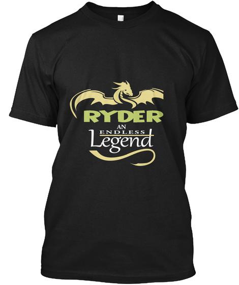 Ryder An Endless Legend Black T-Shirt Front