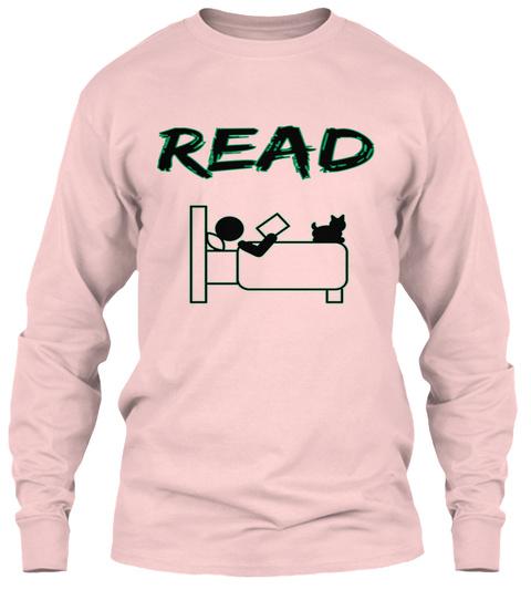 Read Light Pink T-Shirt Front