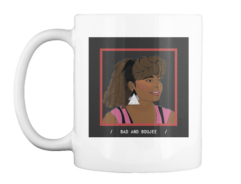 Bad And Boujee   Lisa Turtle White Mug Front
