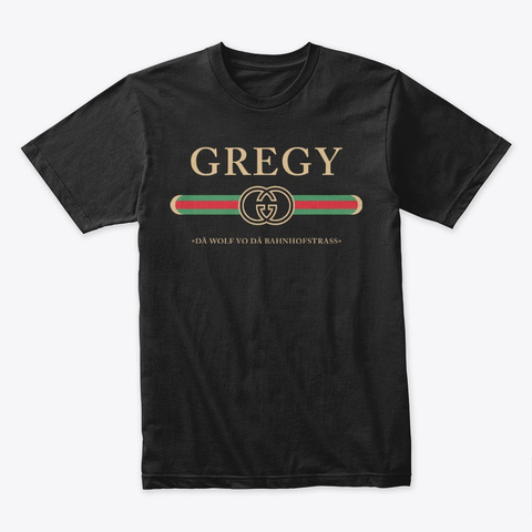 Gregy  Black T-Shirt Front