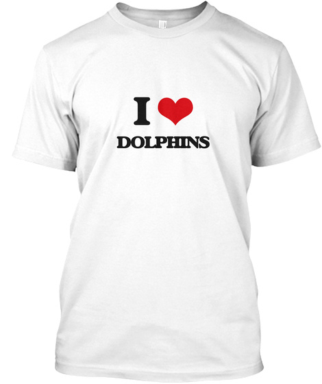 I Dolphins White T-Shirt Front
