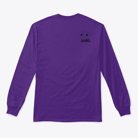 See Myself Coming, Going Purple T-Shirt Back